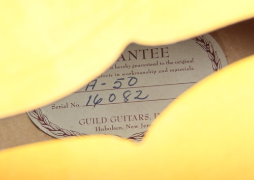 1961 Guild A-50 Archtop