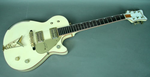 2013 Gretsch Gretsch Custom Shop 1958 White Penguin Electric Guitar Steph