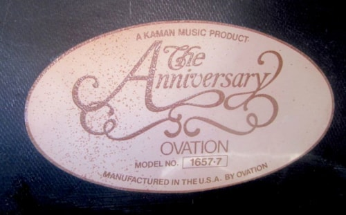 "1981 Ovation ""The Anniversary"" Collectors Edition"