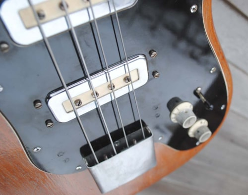 1964 STILES rare 2 pup scroll bass