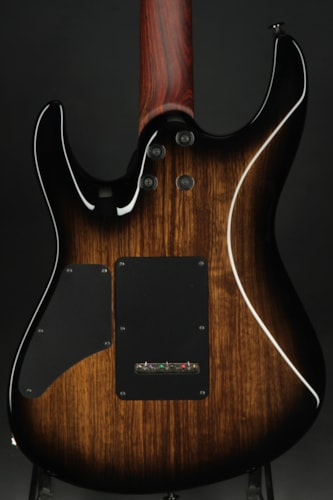 Suhr Modern Carve Top - Black Limba/Black Burst