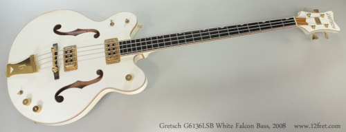 2008 Gretsch® White Falcon Bass