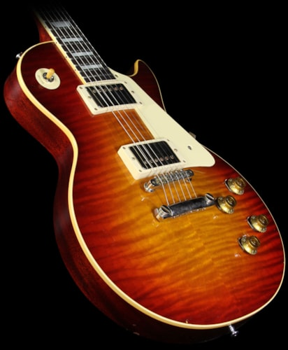 Gibson Custom Shop Used Gibson Custom Shop Murphy Aged True Historic 1959 Les Paul Reissue Electric Guitar Aged Vintage Cherry Sunburst