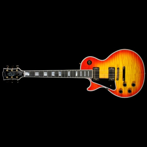 Gibson Custom Shop Used 2013 Gibson Custom Shop Les Paul Custom Left-Handed Electric Guitar Heritage Cherry