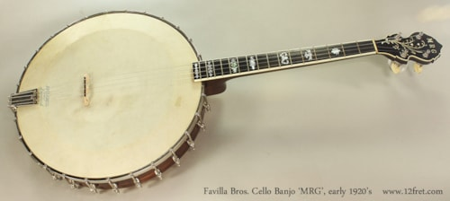 1922 Favilla Bros Cello Banjo