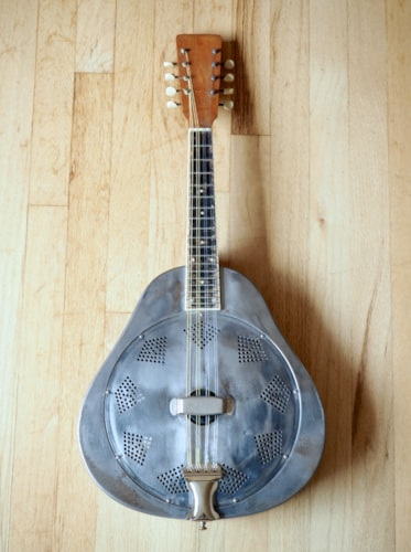 ~1930 National Triolian Polychrome Vintage Steel Bodied Resonator Mandolin