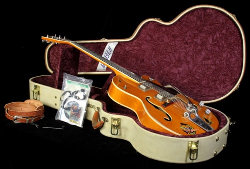 Gretsch Used 2007 Gretsch Custom Shop Master Built G6120SSC Brian Setzer Tribute Electric Guitar Vintage Western Maple Stain