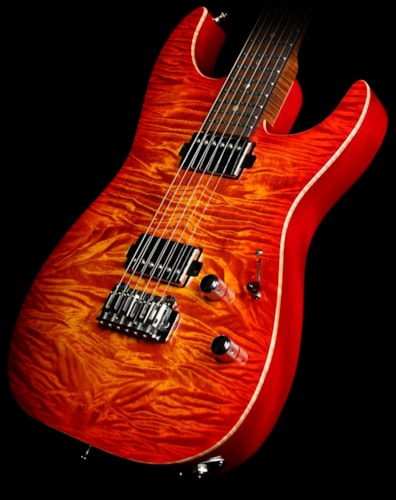Lipe Used 2014 Lipe Virtuoso Equatorial Mahogany Electric Guitar Fireburst