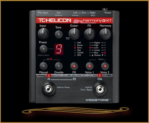 TC Helicon VoiceTone Harmony-G XT Vocal Harmony and Effects for Guitari