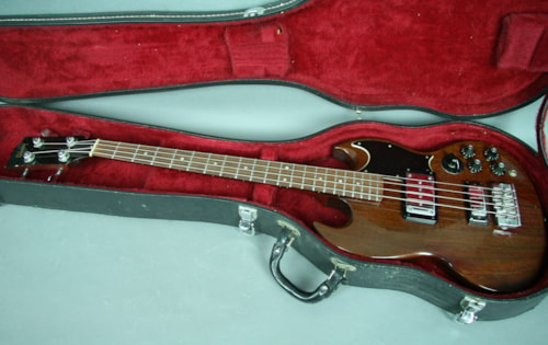 1973 Gibson EB-3 Solidbody SG Style Electric Bass Guitar w/OHSC