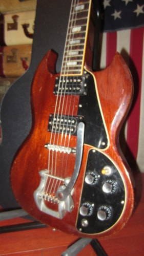 1974 Gibson Sg Standard W Bigsby Vibrato Cherry Red