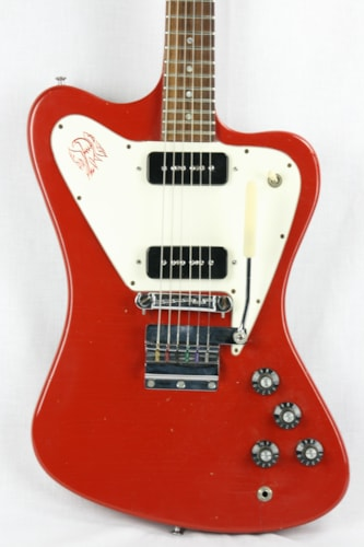 1968 Gibson Firebird I Custom Color EMBER Red! Non Reverse, 2 P90's!