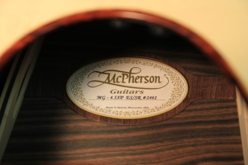 McPherson 4.5 ES/ SR Striped Macassar Ebony/ Adirondack Red Spruce