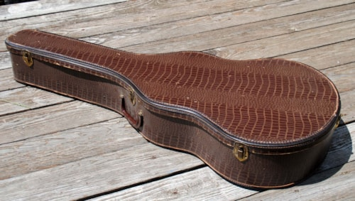 ~1958 Gibson Chipboard alligator case