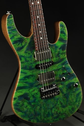 Suhr Modern Black Limba/Burl Maple - Trans Algae