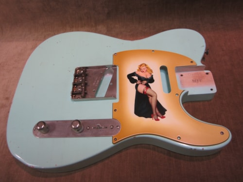 "2016 Fender® Custom Shop ""Girly Guard"" Telecaster® Aged 50's Pin Up Girl"
