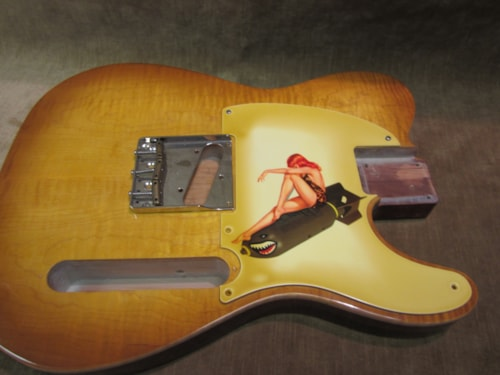 """2016 Fender® Custom Shop """"Girly Guard"""" Esquire Aged 50's Pin Up Girl"""