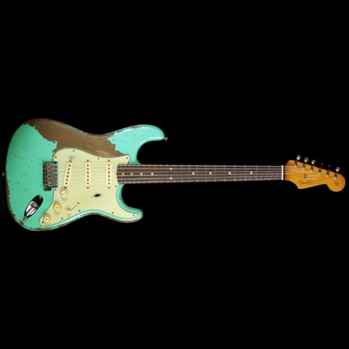 Fender® Custom Shop Masterbuilt Jason Smith Roasted Alder '62 Stratocaster® Relic® Electric Guitar Seafoam Green