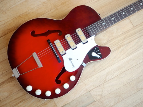 1964 Harmony Rocket H59 Triple Pickup Vintage Hollowbody Electric Guitar