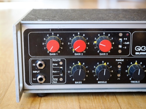 ~1975 Burman GX3 Vintage Guitar Amplifier Tube Preamp UK Made & Rare!