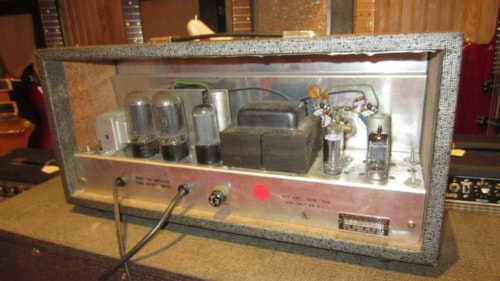 "~1964 Silvertone Model 1483 15"" Piggy Back Combo Amp"