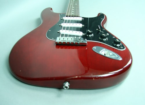 2011 Fender® Stratocaster® Deluxe Electric Guitar Red Texas Special™ USA w/