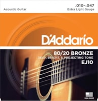 D'Addario 80/20 Bronze Acoustic Strings (Extra Light 10-47)