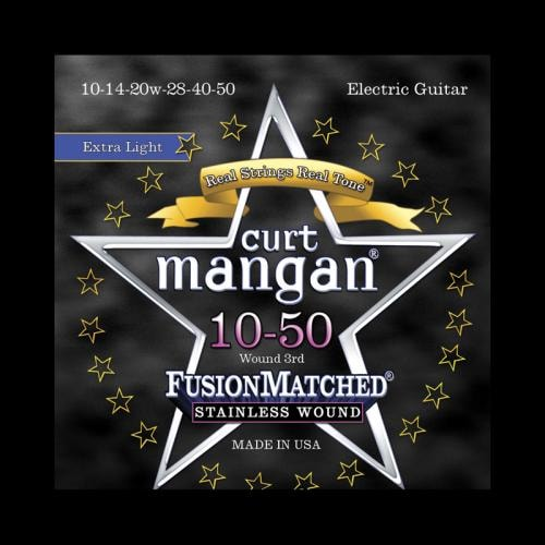 Curt Mangan Fusion Matched Stainless Wound Electric Strings (10-50)