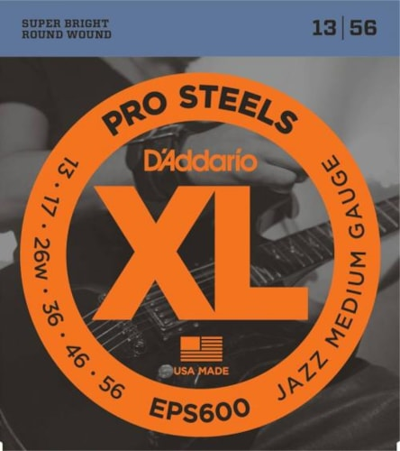 D'Addario ProSteel Electric Strings (Jazz Medium 13-56)