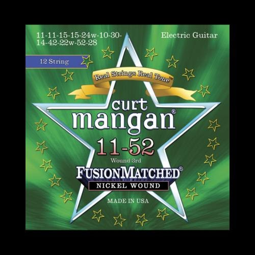 Curt Mangan Fusion Matched Nickel Wound 12-String Electric Strings (11-52)