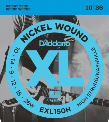 D'Addario Nickel Wound Electric Strings (High Strung/Nashville 10-26)