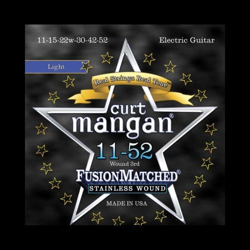 Curt Mangan Fusion Matched Stainless Wound Electric Strings (11-52)