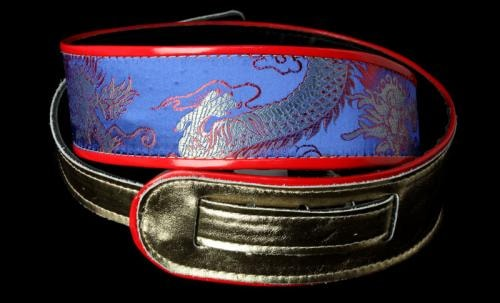 Jodi Head Silk Dragon Guitar Strap (Blue)