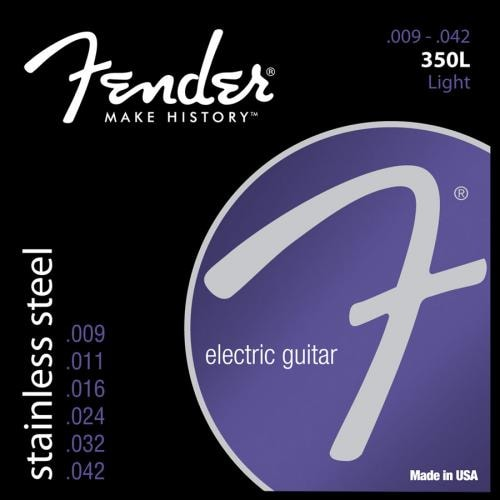 Fender® 350L Stainless Steel Electric Strings (9-42)