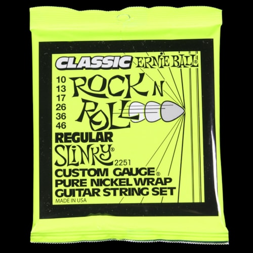 ERNIE BALL MUSIC MAN Ernie Ball Regular Slinky Classic Rock and Roll Pure Nickel Wound Electric Strings (10-46)