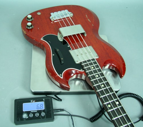 1963 Gibson EB-0 Solidbody SG Style Electric Bass Guitar Cherry Red w/OH
