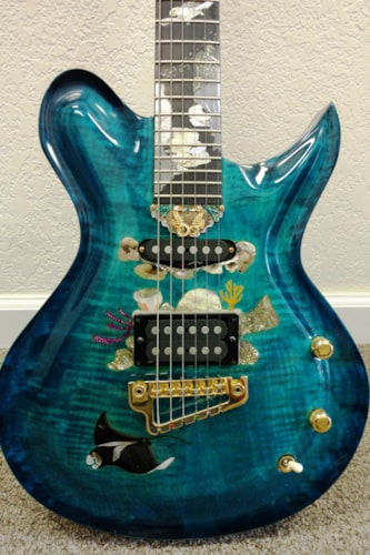 2000 Superior Guitar Works - C. Lavin THE LIVING SEA - Custom one of a kind! C. Lavin Inlay
