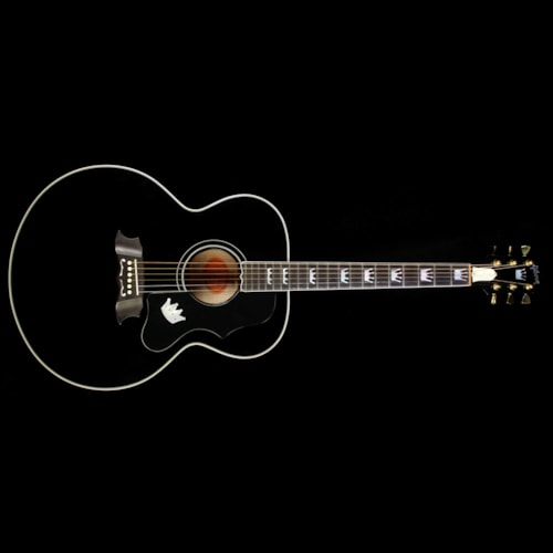 Gibson Used 1997 Gibson Elvis Presley The King of Rock J-200 Acoustic/Electric Guitar Ebony