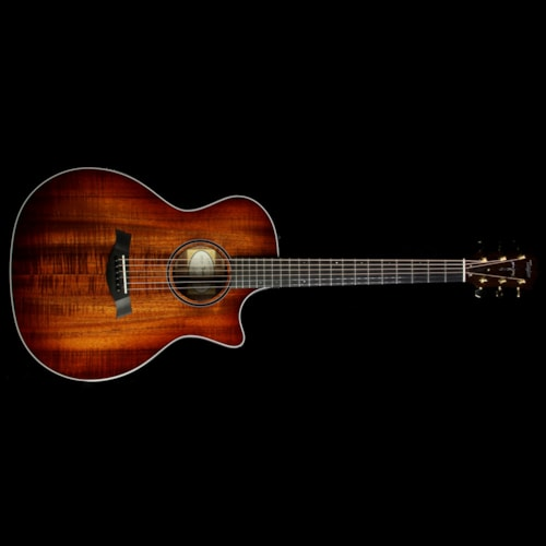 Taylor Custom 714ce Koa Music Zoo Exclusive Acoustic/Electric Guitar Shaded Edgeburst