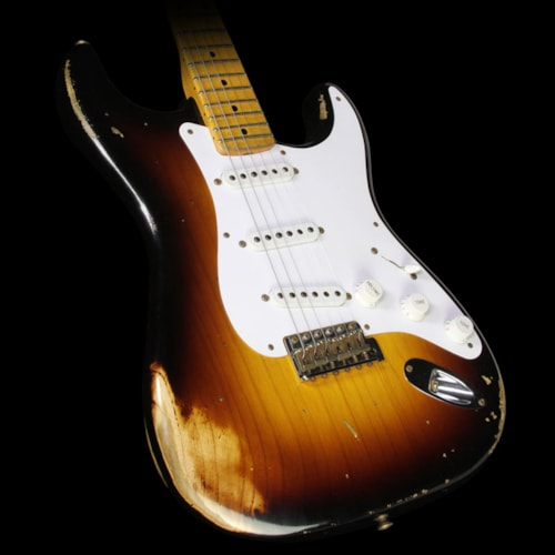 Fender Custom Shop Used 2014 Fender Custom Shop 60th Anniversary 1954 Stratocaster® Relic® Electric Guitar 2-Tone Sunburst