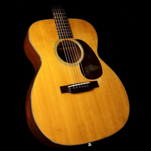 1950 Martin Used 1950 Martin 000-18 Acoustic Guitar Natural