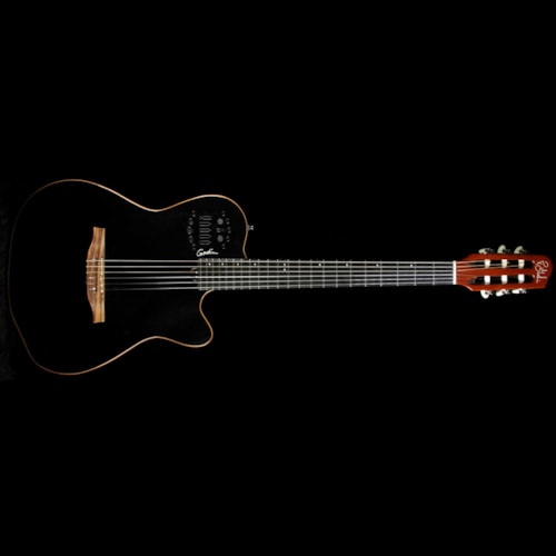 Godin Used Godin ACS-SA Slim Nylon Electric Guitar Black Pearl