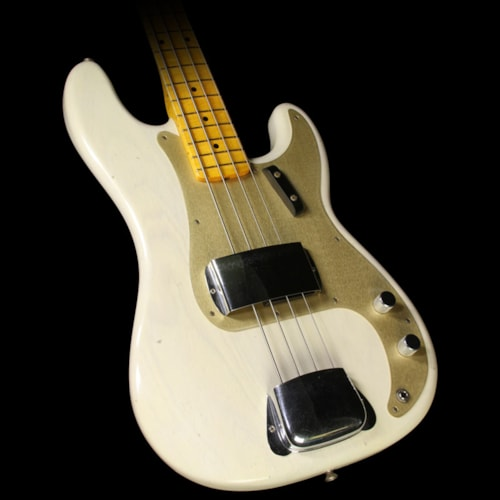 Fender® Custom Shop Used Fender® Custom Shop 1957 Precision Bass® Journeyman Relic® Electric Bass Aged White Blonde