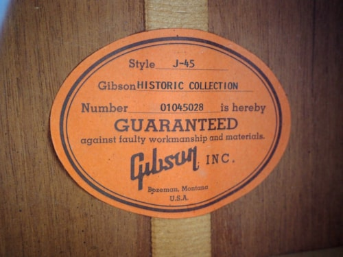 2005 Gibson J-45 Historic Collection Dreadnought Acoustic Guitar