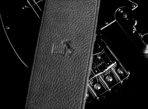 """2016 Italia Leather Straps 4"""" Wide Black-Black Suede Backing"""