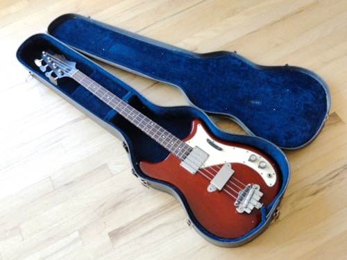 1966 Epiphone Newport Vintage Electric Bass Guitar Batwing Gibson EB-0