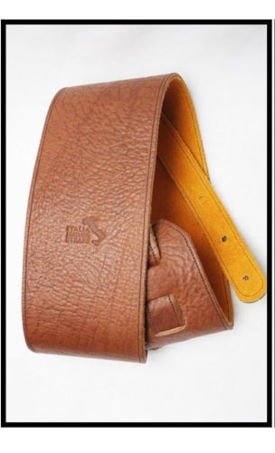 """2016 Italia Leather Straps 4"""" Wide Acorn-Amber Suede Backing"""