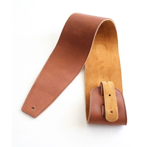 "2016 Italia Leather Straps 4"" Wide Acorn-Golden Brown Suede Backing"