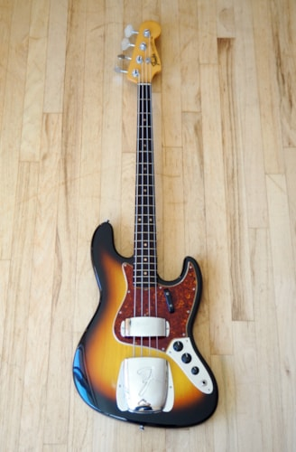 1963 Fender® Jazz Bass® Vintage Electric Bass Guitar Pre-CBS w/ ohsc