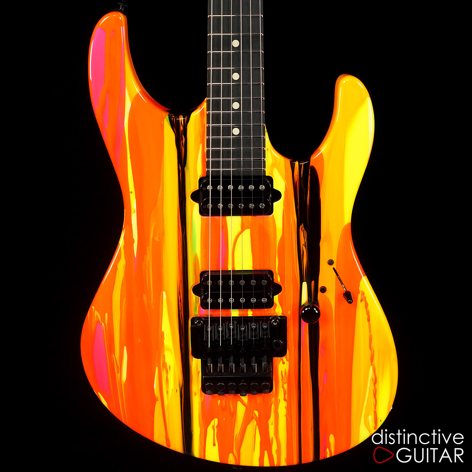 suhr modern 80s shred neon drip  u0026gt  guitars electric solid